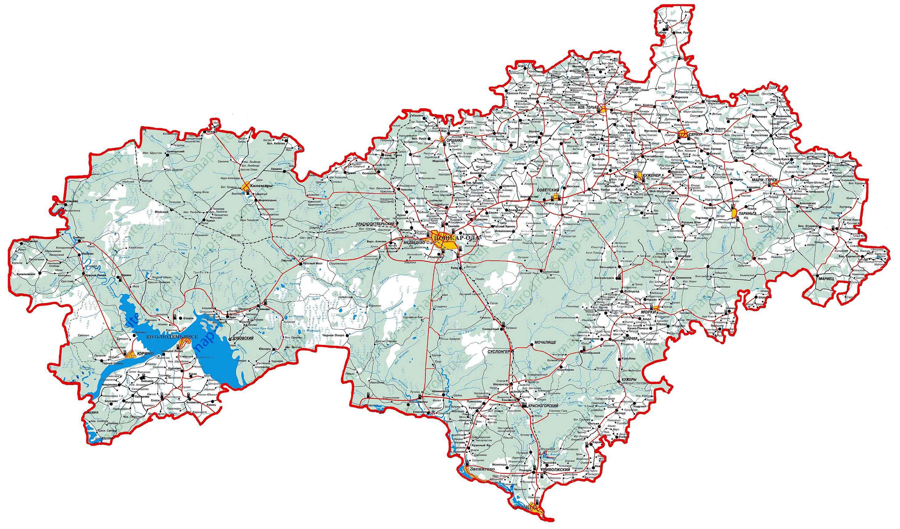 Марий Чодра Карта