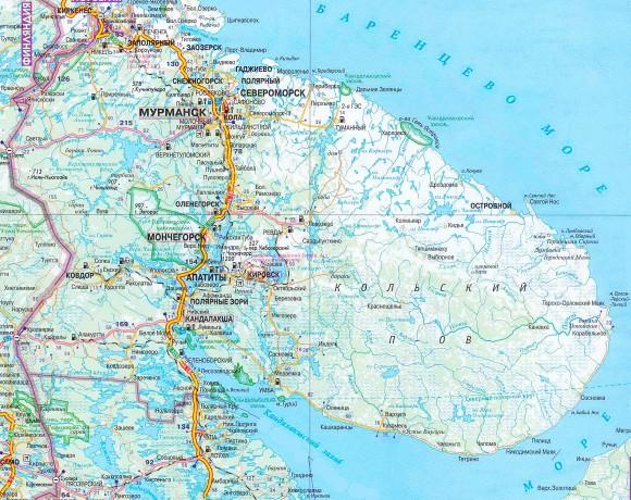 Карта Мурманской области