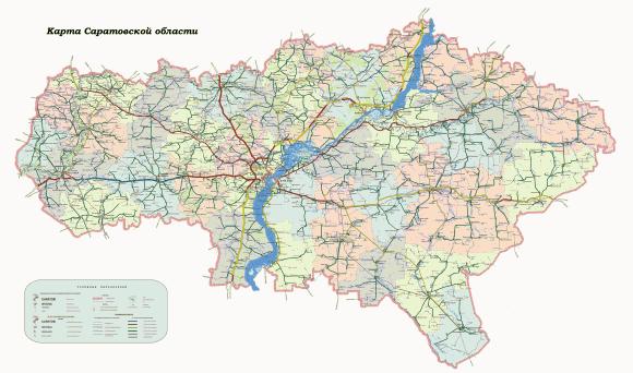 Карта Саратовской области
