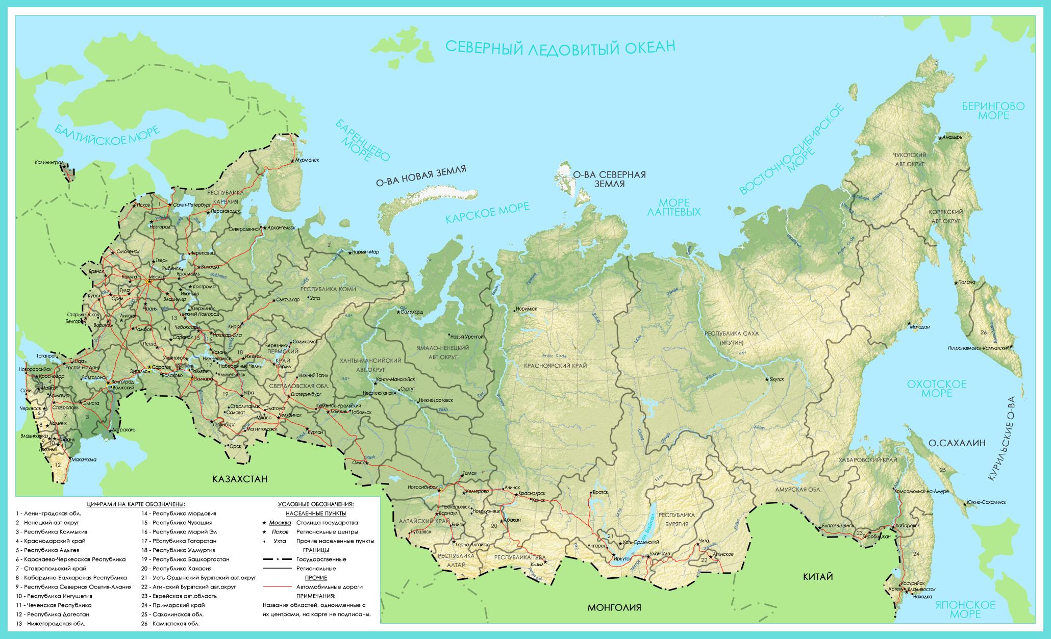 Протяженность российских дорог