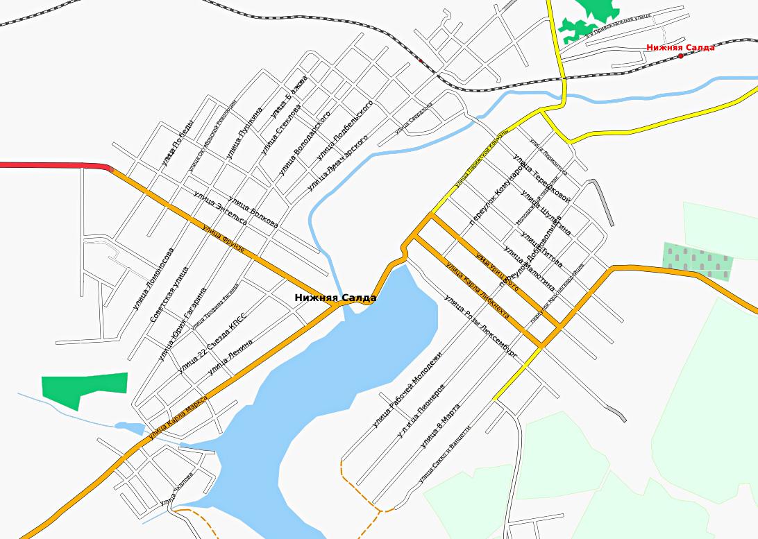 Нижняя Салда. Карта | Инфокарт – все карты сети