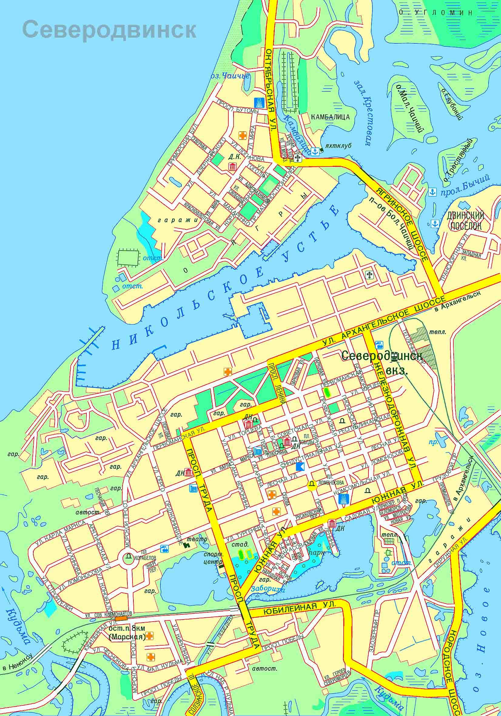 Схема движения 22 северодвинск