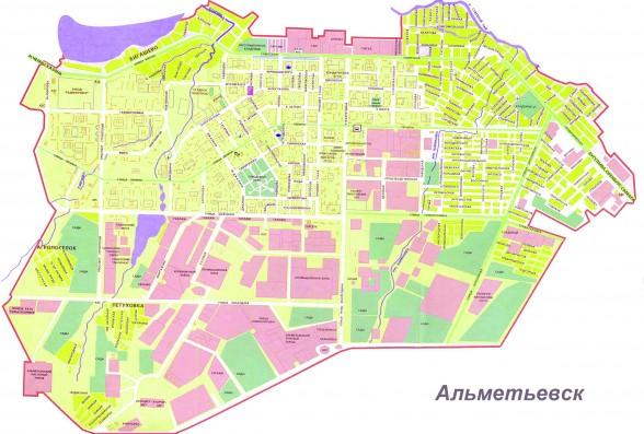 карта альметьевска с улицами