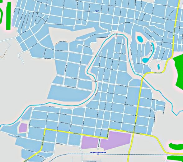 Карта Петровска с улицами и