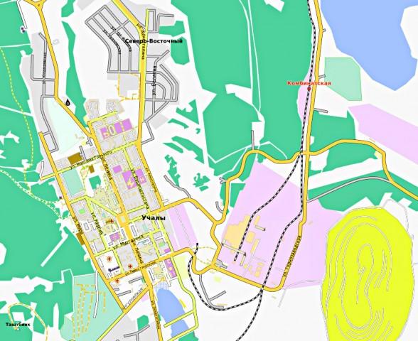 Карта Учалы