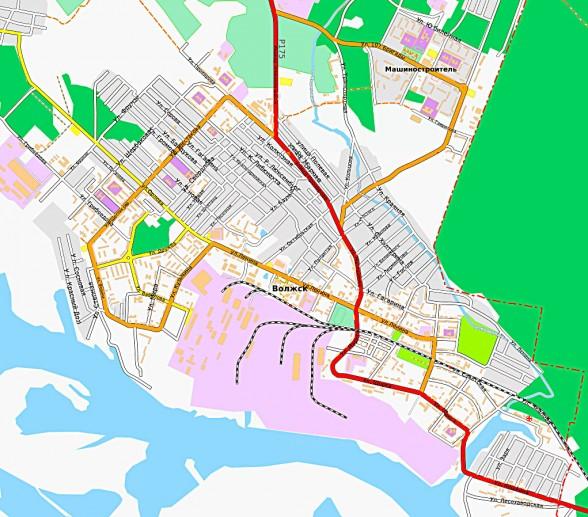 Карта Волжска