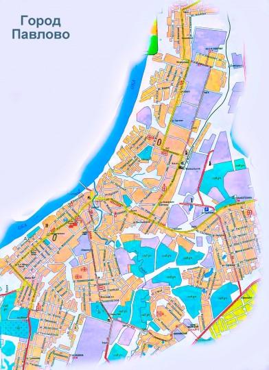 Карта Павлово