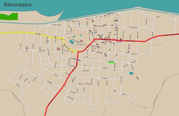 карта белозерска с улицами