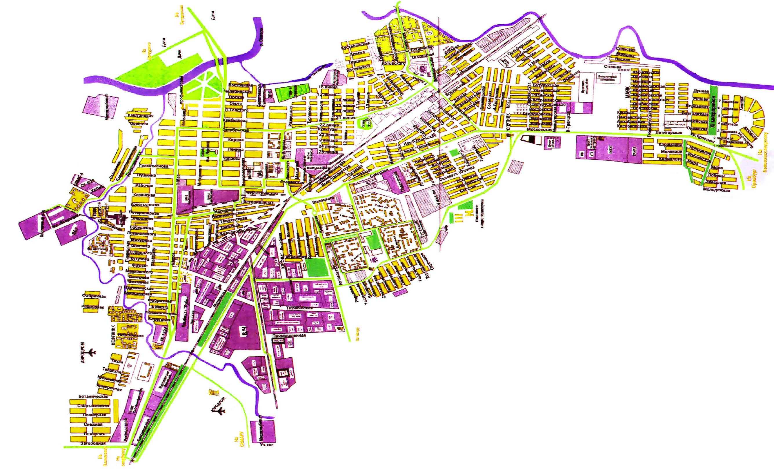 Карта Города Котельнич С Улицами