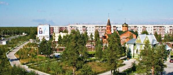 Карта города Муравленко с