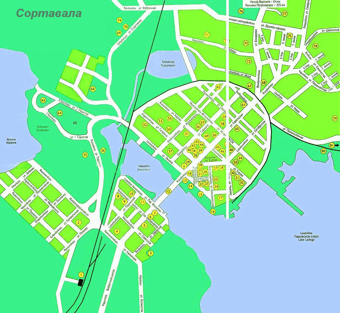 Карта Сортавала С Улицами И Номерами Домов