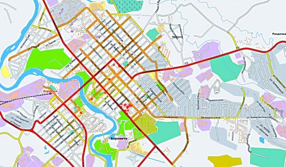карта улиц боровичи