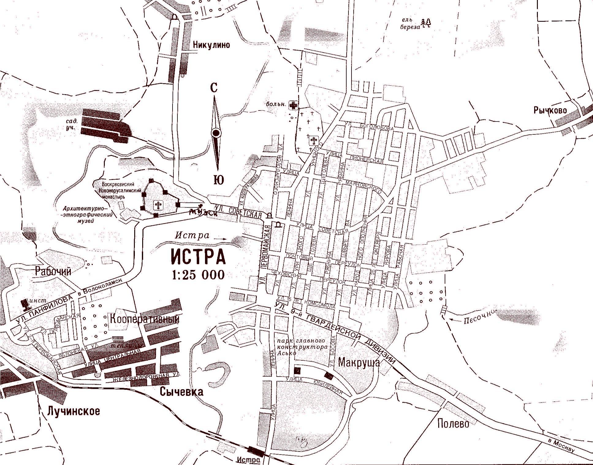Карта Истры - Карта Москвы