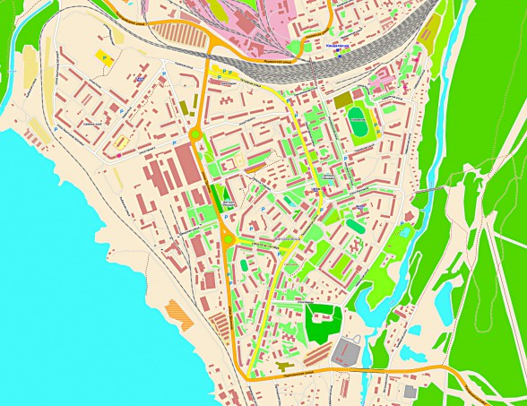 Карта Кандалакши