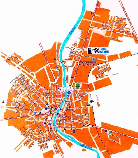 Карта Города Ахтубинска С Улицами