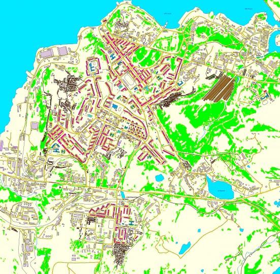 карта североморска с улицами и