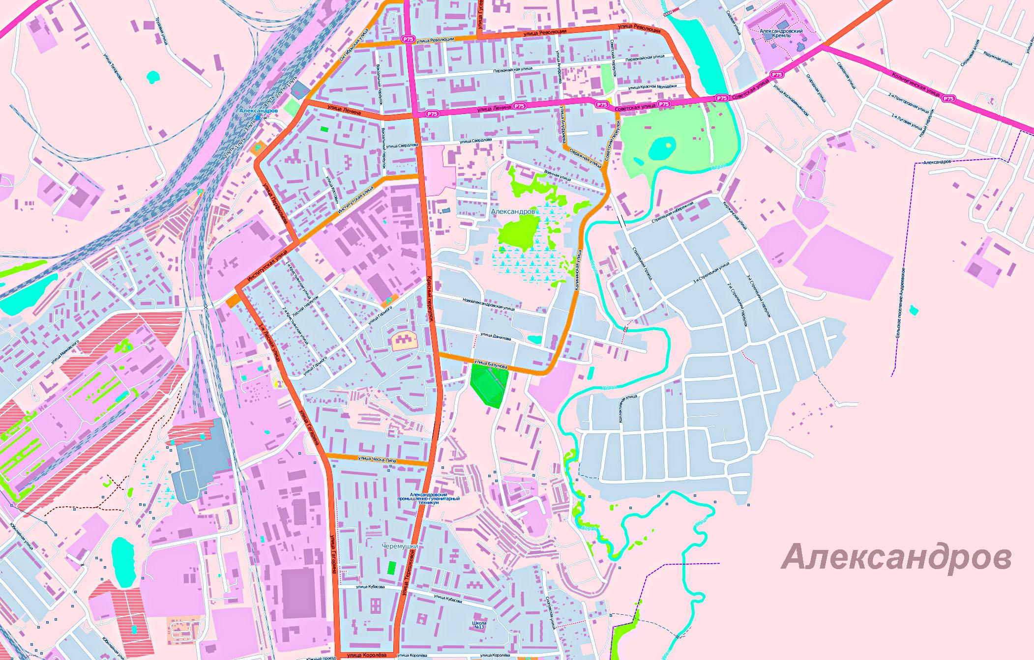 Александров схема улиц