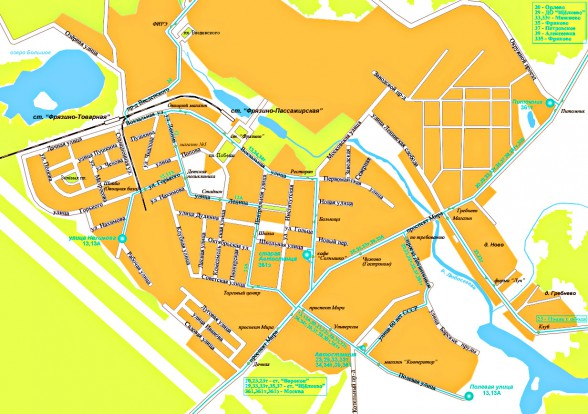 карта фрязино