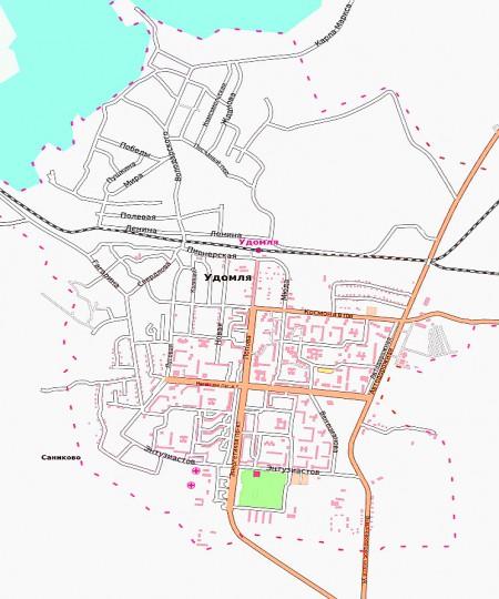 Карта Удомля