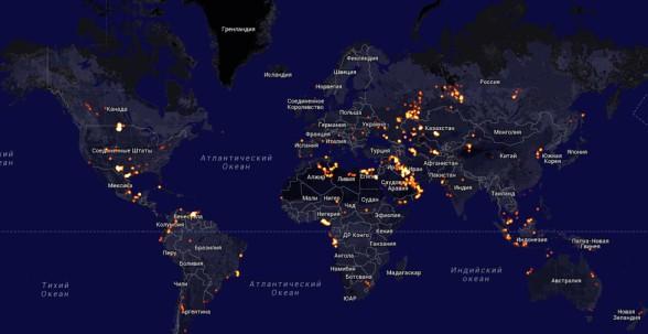 Газ на карте