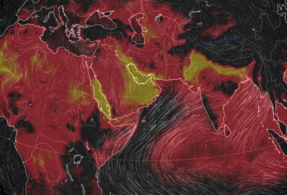карта ветров и температур