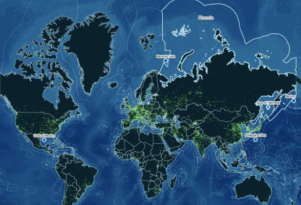 Карта исключительных экономических зон мира