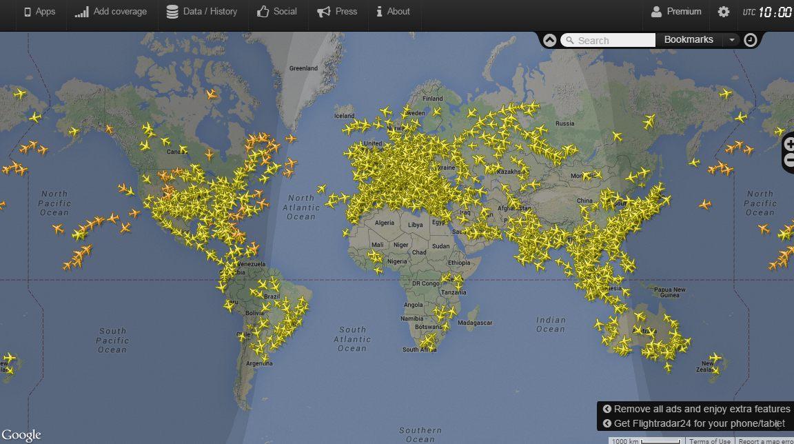 Карта схема самолетов