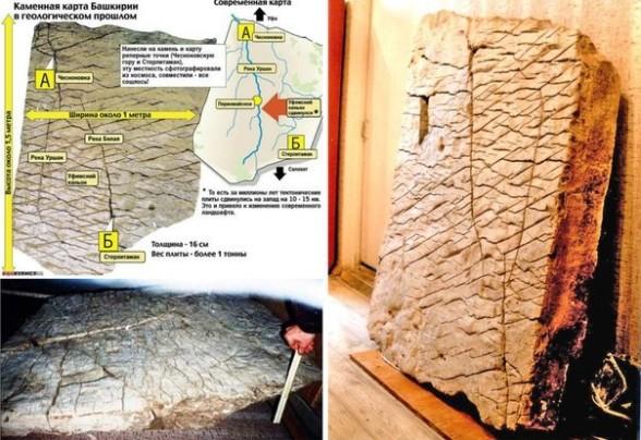 каменная карта Земли в Башкирии