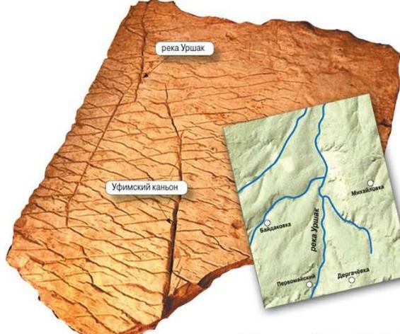 Башкирия каменная карта