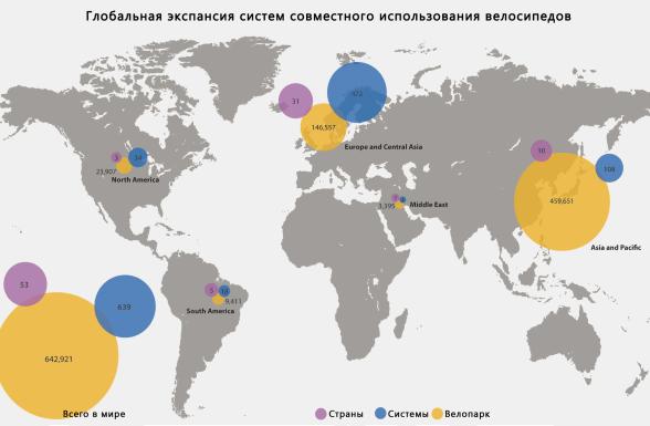 Карта велосипедов