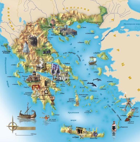 туристу в Греции