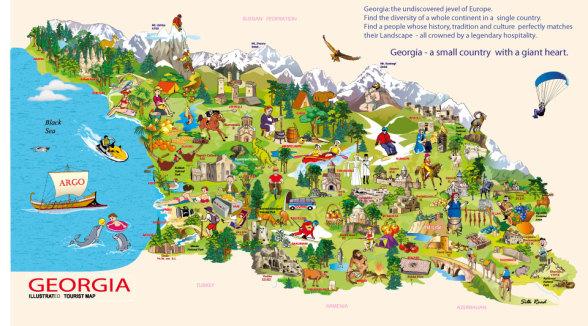 Тбилиси туристический карта