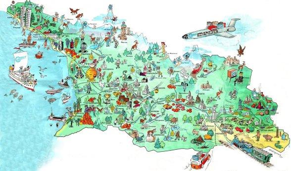 Гастрономическая карта Грузии