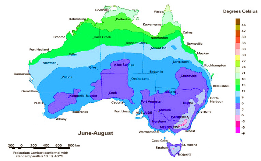 Климат Австралии. Особенности. Типы